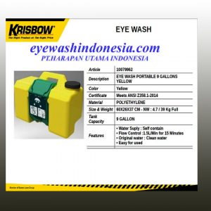 Emergency Eyewash Portable Krisbow